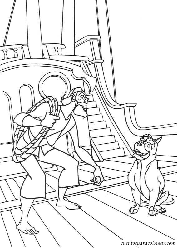 Dibujos para colorear Simbad