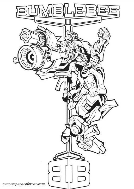 Transformers Colorear E Imprimir