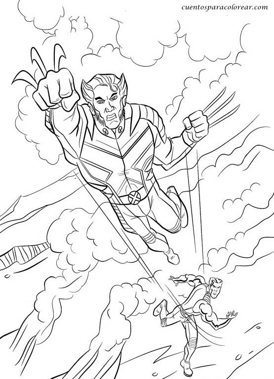 Dibujos Para Colorear X Man