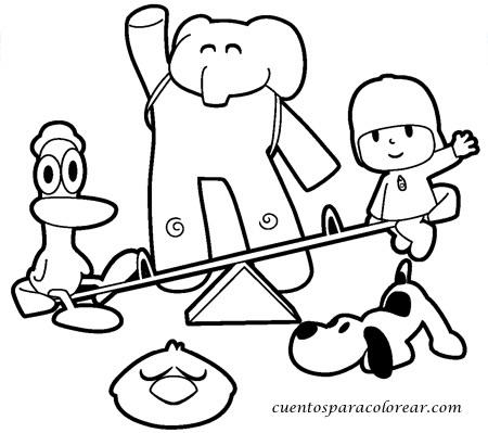 Dibujos para colorear Pocoyó