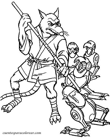 Fichas Tortugas Ninja Para Colorear - tongawale.com